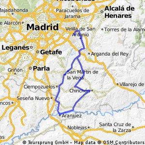"Ruta Carretera 14: 122 Km 946 m - ""Aranjuez y Chinchón"""