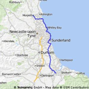 Dag 8 Middlesbrough-Morpeth 107 km