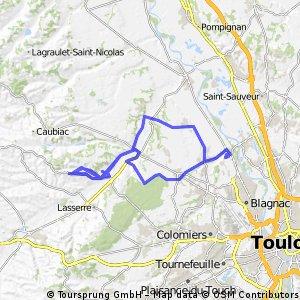 Seilh - Le Castera  - back via Bouconne