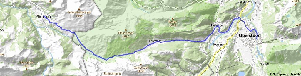 50km-Rohrmoostal-Sibratsgfäll, hin-und zurück