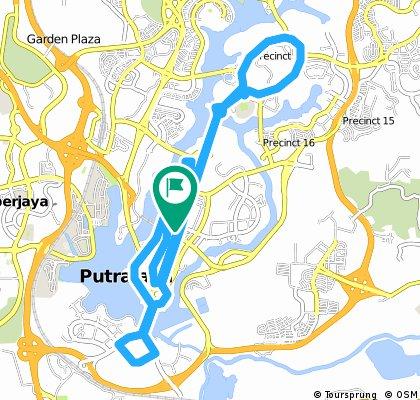 ride through Putrajaya