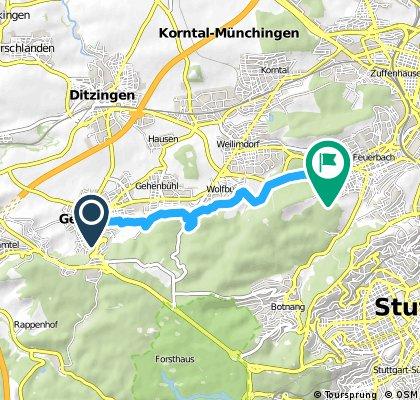 Schnelle Ausfahrt von Gerlingen nach Stuttgart