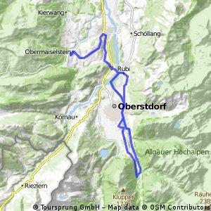 Allgäu Oberstdorfer Tälerrunde as ridden