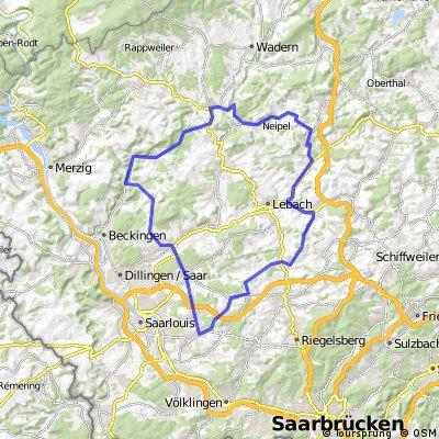 Permanente Saarland-Mitte der RSG-Ford-SLS
