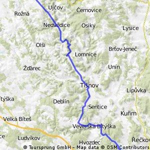 Bystřice nad Pernštejnem-Brno