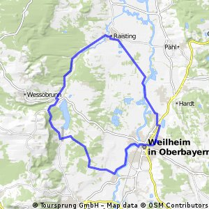 Lange Ausfahrt durch Weilheim in Oberbayern