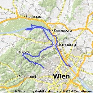 Exelberg - Klosterneuburg - Greifenstein - Donauinsel