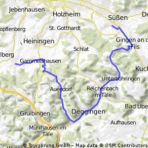 Bad Boll - Süßen über Auendorf