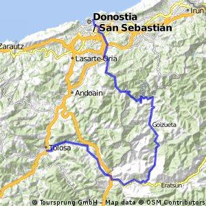 Donosti-Tolosa por Goizueta