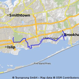50 Miles - South Shore Islip Terrace to Brookhaven
