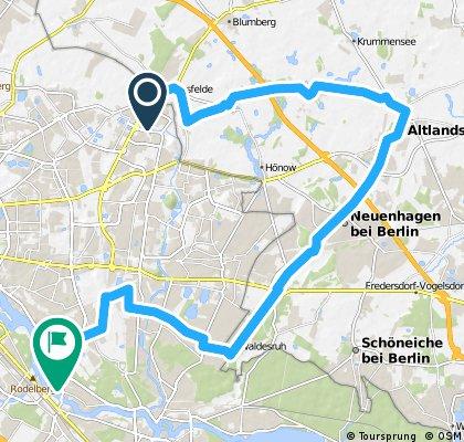 von Ahrensfelde über Altlandsberg nach Karlshorst