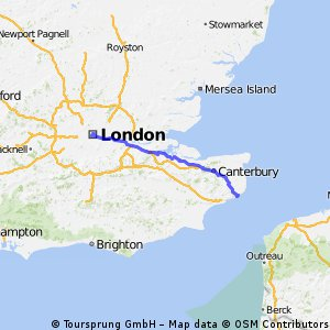 London to Dover, Entering via Kearsney