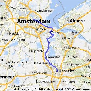 A'dam Utrecht langs de Vecht