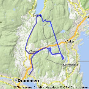 Lengthy ride from Asker to Heggedal