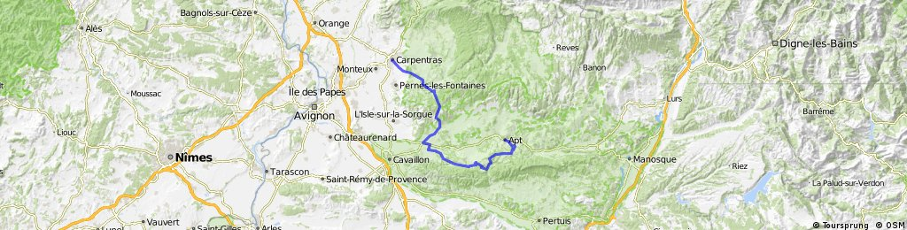 1 Carpentras - Apt 73km