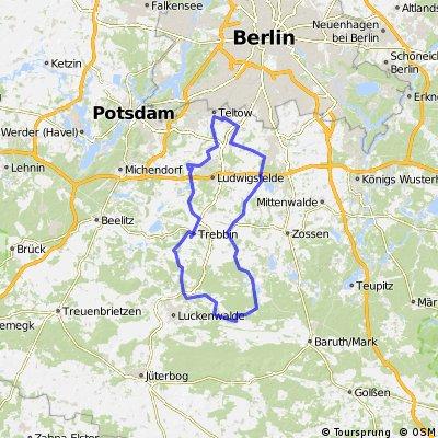 Lange Radrunde durch Teltow
