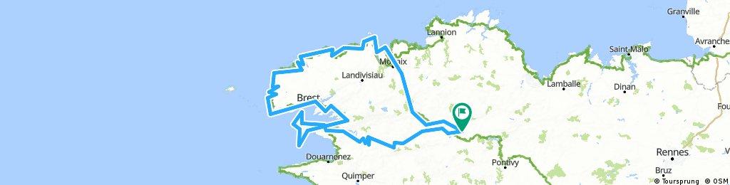 Le tour du Finistère Nord / Mai 2016