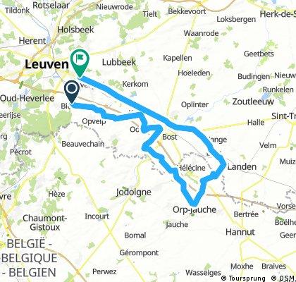 Lengthy bike tour through Bierbeek