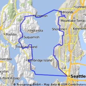 Edmonds - Kingston - Bainbridge - Seattle - Edmonds
