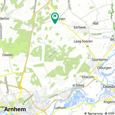 MTB route Rheden 52km
