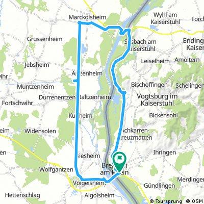 Breisach - Marckolsheim - Breisach