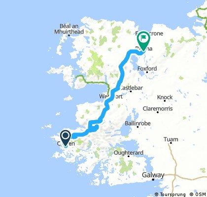 II Clifden - Ballina  140 Km