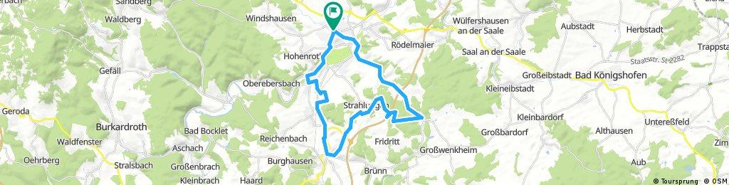 Lange Radrunde durch Bad Neustadt