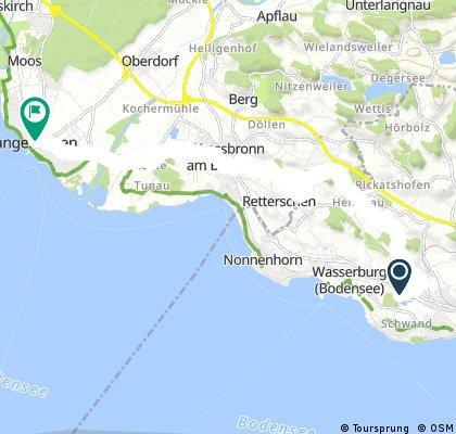 Radrunde von Wasserburg nach Langenargen
