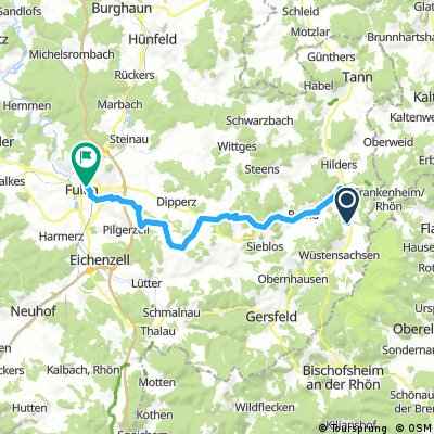 Röhn-Tour mit dem MTB: Von Seiferts nach Fulda
