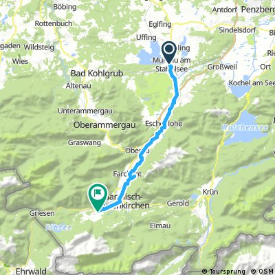 Murnau - Kuhflucht - Grainau Campingplatz