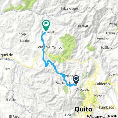 Rundupamba - Cascada La Piragua 70 km