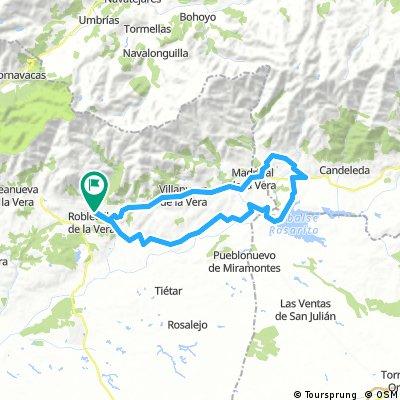 Garganta de Cuartos-Madrigal de la Vera-El Raso-Pantano Rosarito-Canal margen derecha- Robledo-Garganta de cuartos-