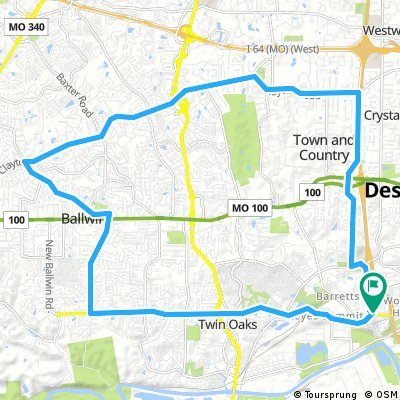 Greenbriar to Kers Mill and back