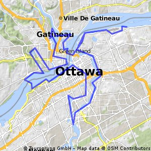 Cycling routes and bike maps in and around Gatineau Bikemap Your