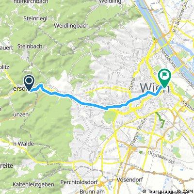 bike tour from Purkersdorf to Vienna