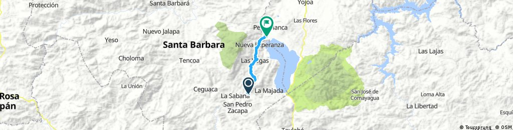 route: 38: Sunsucuapa - Los naranjos