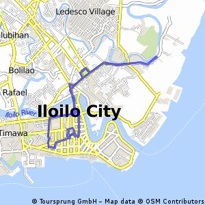 Cycling Routes And Bike Maps In And Around Iloilo City Bikemap - Iloilo city map
