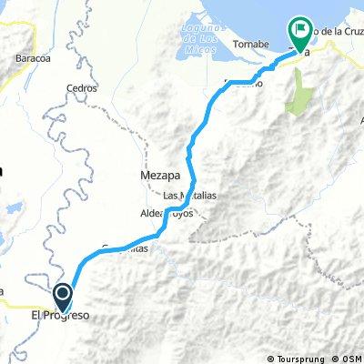 route 40: El Progreso - Tela