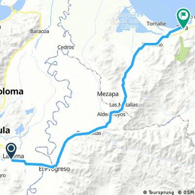 route 45: Tela - La lima