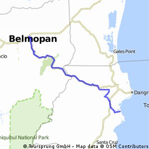 Navigate Hilly Cycling Route In Cayo District Bikemap Your - belmopan map