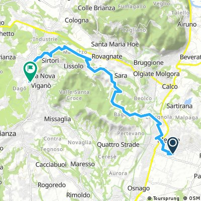 ride from Merate to Barzanò