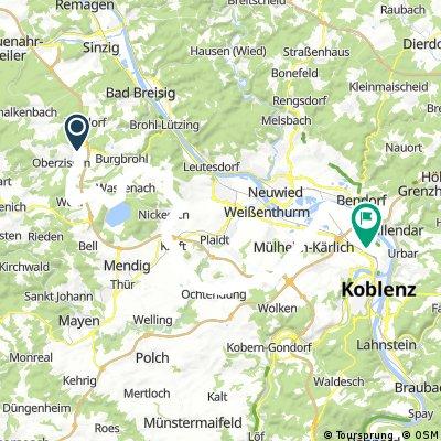 Niederzissen - Wehr/Laacher See/Kell/Ochtendung/Saffig - Koblenz