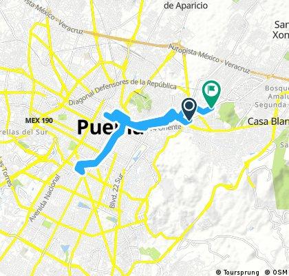bike tour through Puebla gio