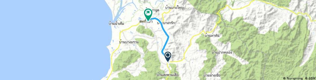 ride from Amphoe Takua Pa to Takua Pa