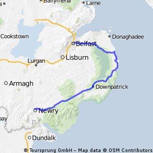 Newry - Belfast via Strangford Lough