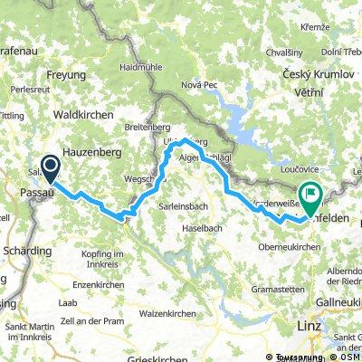 Herbstfahrt 1. Etappe Passau - Bad Leonfelden