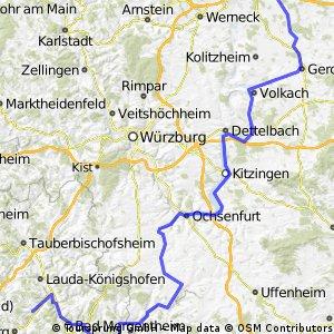 Gochsheim-Unterschütz vom Main zur Tauber