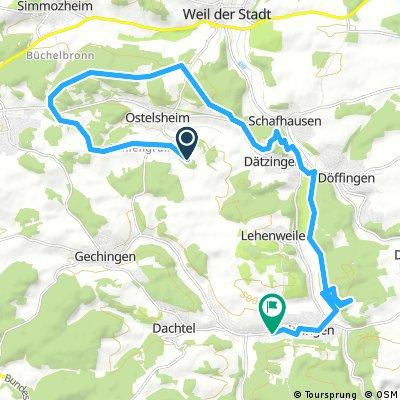 Radrunde von Ostelsheim nach Aidlingen