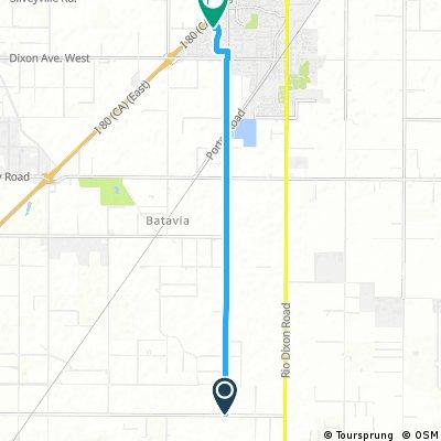 bike tour through Dixon