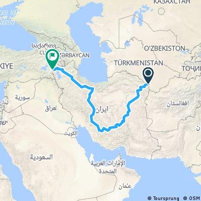 Iran - trasa